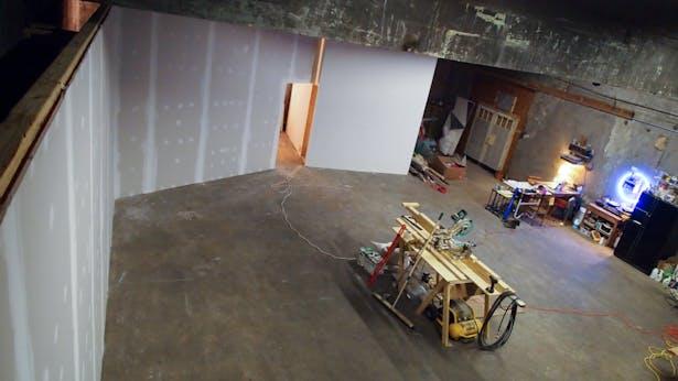 gallery area under construction