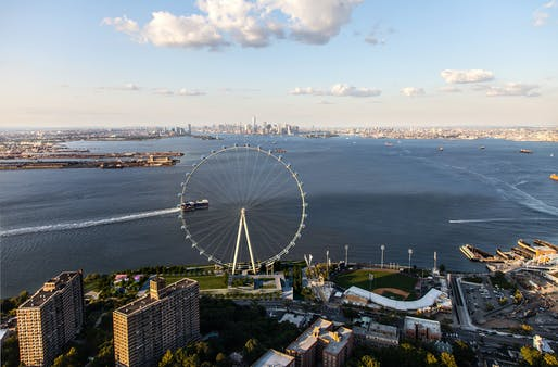 Hang tight, kids - the New York Wheel will open...soonish. (Rendering: @S9 Architecture/Perkins Eastman; Image courtesy of The New York Wheel)