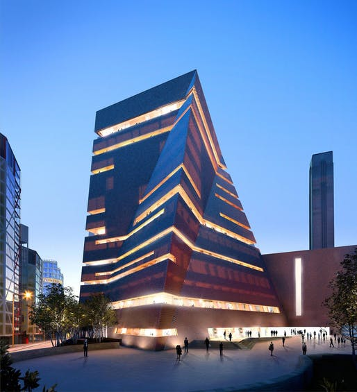 The 'Switch House' extension of the Tate Modern by Herzog and de Meuron. Image credit: Hayes Davidson and Herzog & de Meuron via the Guardian