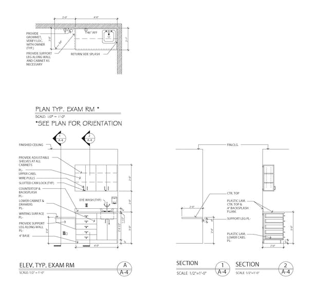 Typical Exam Room Elevations