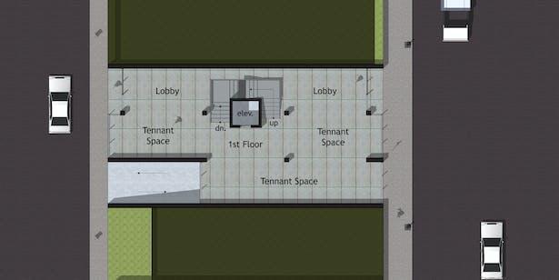 Option B - First Floor Plan (Street Level)