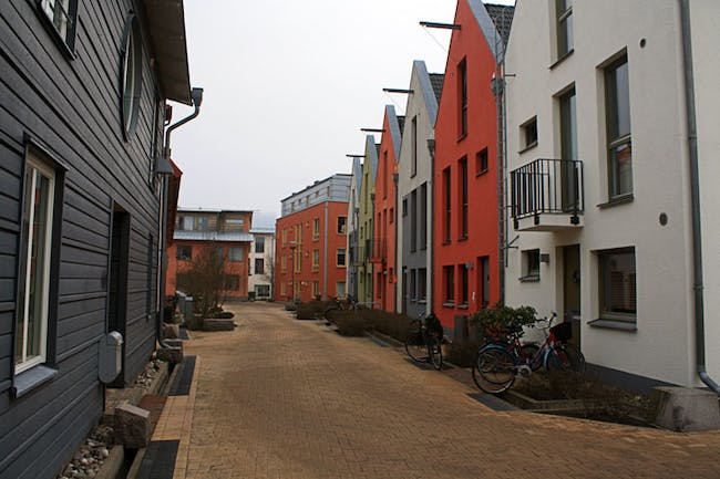 Quaint houses in the Bo01 housing complex in Malmö