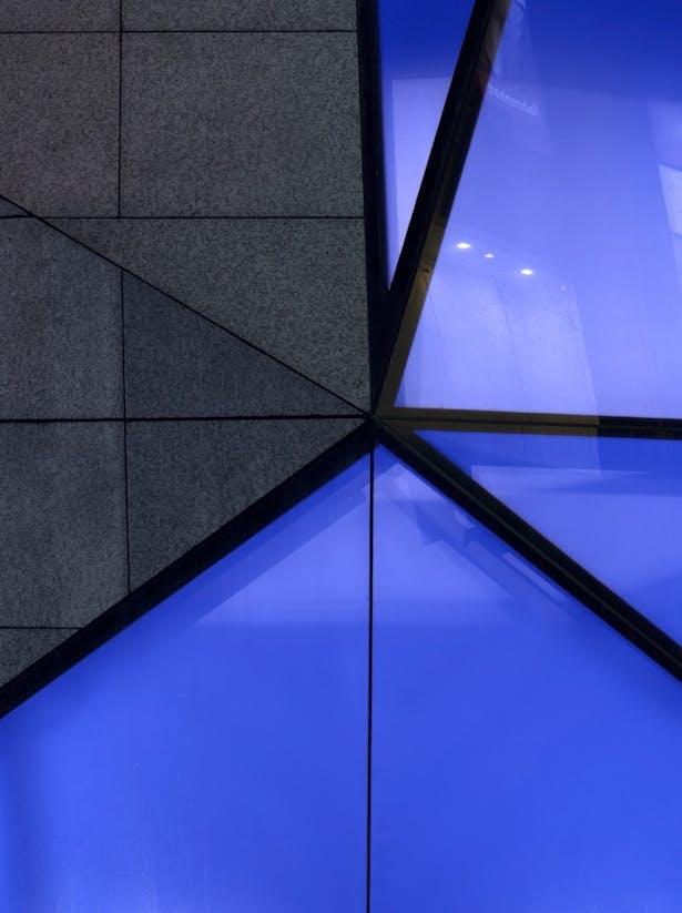 Detail: Stone & Glass Cladding