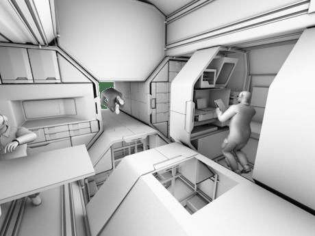 RAF2: Space Craft Interior study model