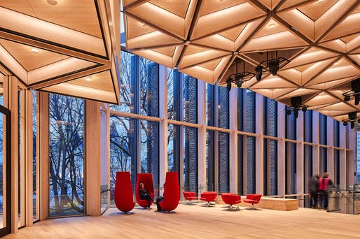 MERIT: National Arts Centre Rejuvenation, Ottawa, Ontario, Diamond Schmitt Architects. Courtesy of the 2017 Wood Design & Building Awards.