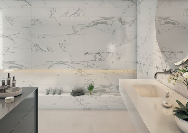Statuary 24x48 Glazed Porcelain In Stock Roca Tile Usa Archinect