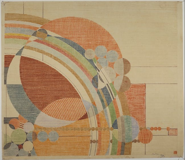 """Frank Lloyd Wright, 'Liberty Magazine' cover, colored pencil on paper, 24.5 x 28.25"""" (62.2 x 71.8 cm), 1926. Courtesy of the Frank Lloyd Wright Foundation Archives (the Museum of Modern Art/Avery Architectural and Fine Arts Library, Columbia University, New York). From the 2016 Organizational Grant to Museum of Modern Art for 'Frank Lloyd Wright at 150: Unpacking the Archive.'"""