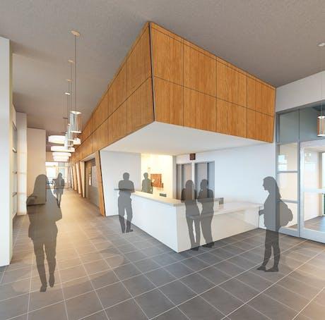 OSU Building A Lobby Interior Render
