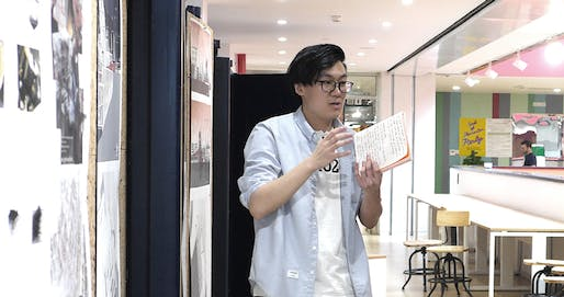 Li Shaokang at his Final Project presentations at XJTLU's Department of Architecture in June 2017