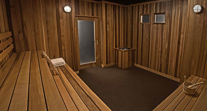 The 'Sauna' set. Image courtesy Kink.com