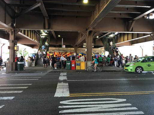 When the Going Gets Tough…Addressing Equity & Quality of Life in Community-Managed Public Spaces.jpg: 125th Street Plaza in Harlem that the 'Community-Managed Public Spaces' project addresses. Photo courtesy of the Horticultural Society of New York.