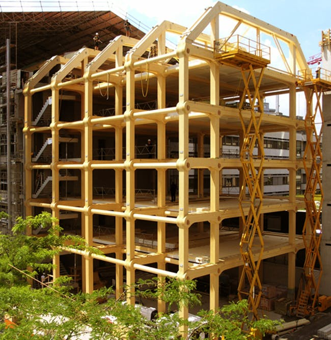 Tamedia New Office Building (under construction) via Shigeru Ban Architects
