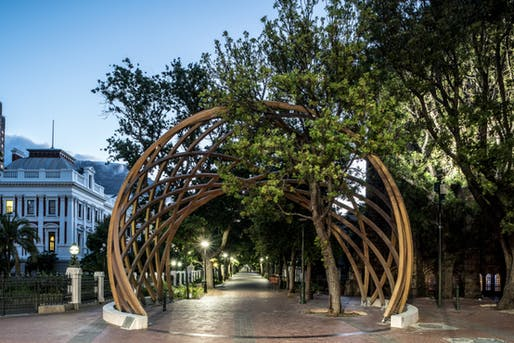 Desmond Tutu Memorial Arch by Snøhetta and collaborators, located in Cape Town, ZA. Image: David Southwood.