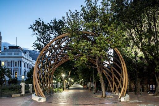 Desmond Tutu Memorial Arch by Snøhetta and collaborators, located in Cape Town, ZA. Image: David Southwood.