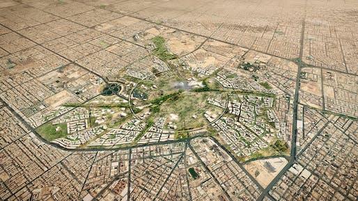 King Salman Park, Riyadh, Kingdom of Saudi Arabia, 2024 by Omrania and Henning Larsen Architects.