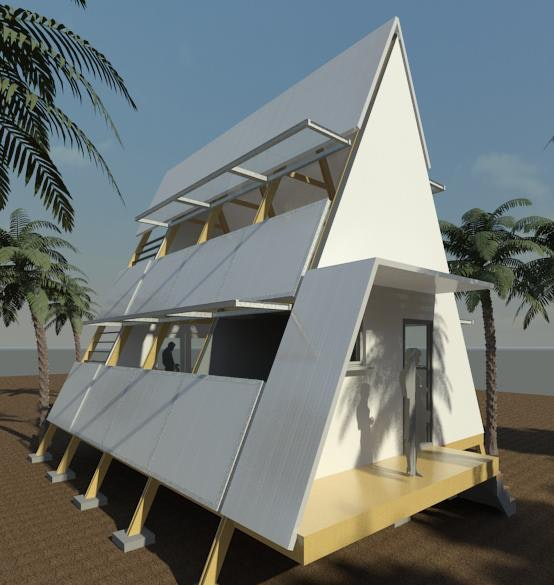 Reviving The A Frame Cabin A Study In Prefabrication Assembly Kit.