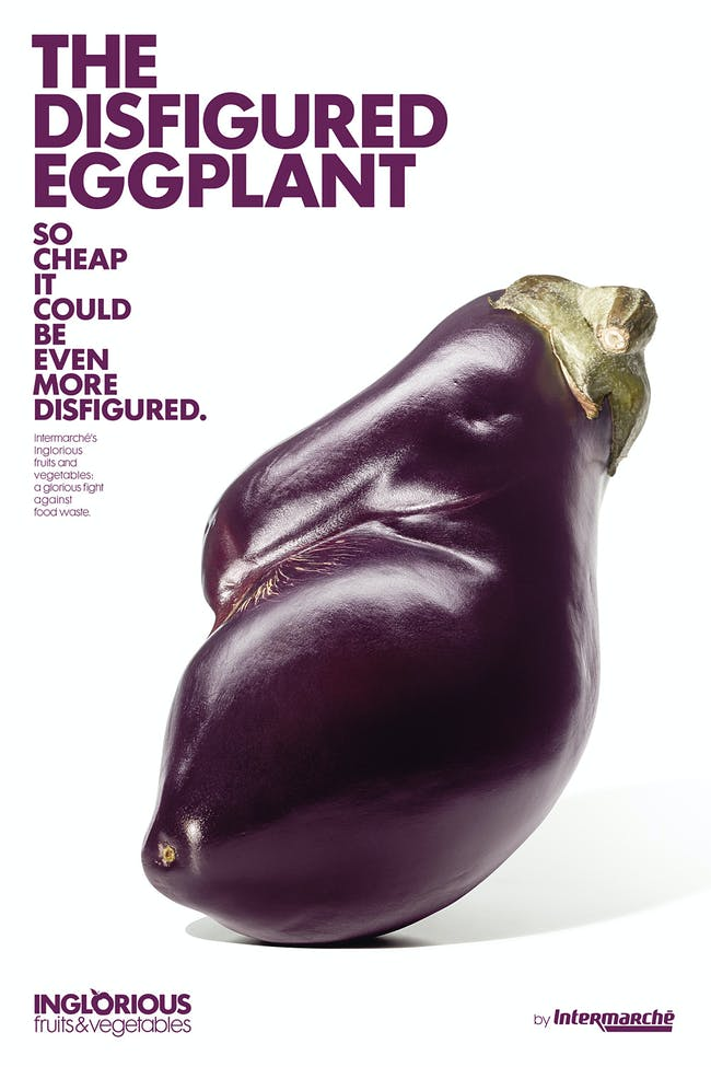 GRAPHICS: INGLORIOUS FRUITS & VEGETABLES. Designed by Marcel for Intermarché.