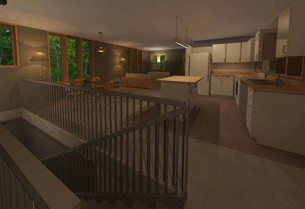 Interior facing Front Entrance