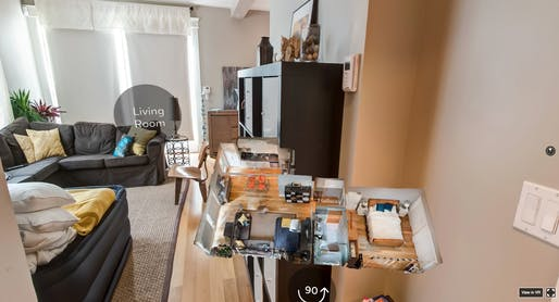 Airbnb virtual reality rental tour. Photo: Upload/Twitter.
