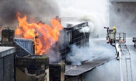 'People weeping in the streets around @GSofA Macintosh building Heartbreaking' - Twitter user Graham McLaren (@MCLAREN_G)