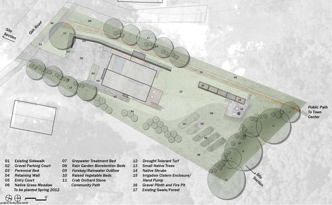 Phase IV landscape Site Design Plan for The New Norris House.
