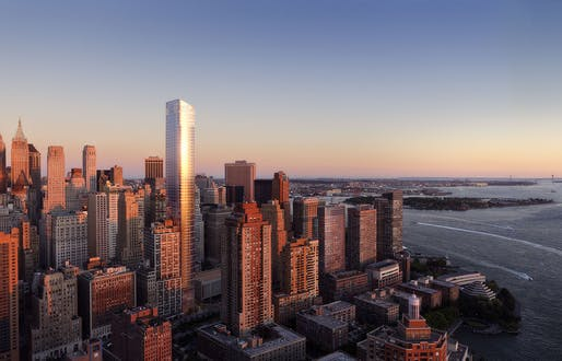 Rendering of the new 50 West Street tower. Image via 50westnyc.com