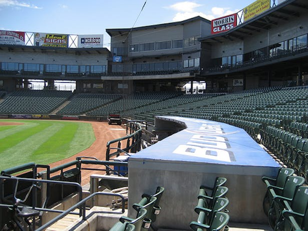 Press and Club Addition from Left Field Dugout