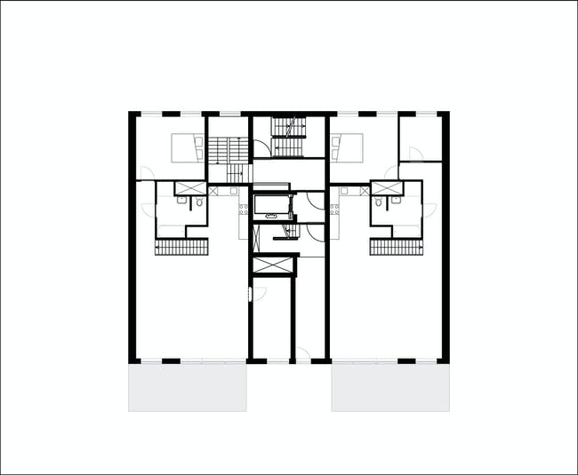 Floor plan of 1st floor of B05 'Kuifje' by NL Architects. Image: NL Architects.