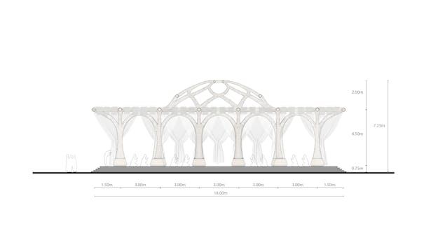 Section of DiaMosque_AntiStatics Architecture