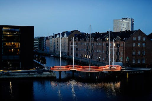 Olafur Eliasson's Cirkelbroen ('Circle Bridge') opened last weekend in Copenhagen, two years after initially scheduled. (Photo: Søren Svendsen, for Nordea-fonden)