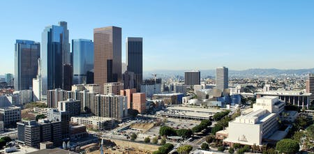Downtown Los Angeles and Points NE from City Hall Observation Terrace, 12/30/13. Image via Joe Wolf's flickr.