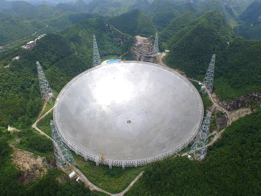 Award for Long Span Structures: Reflector Supporting Structural System of the Five-hundred-meter Aperture Spherical Telescope (FAST).