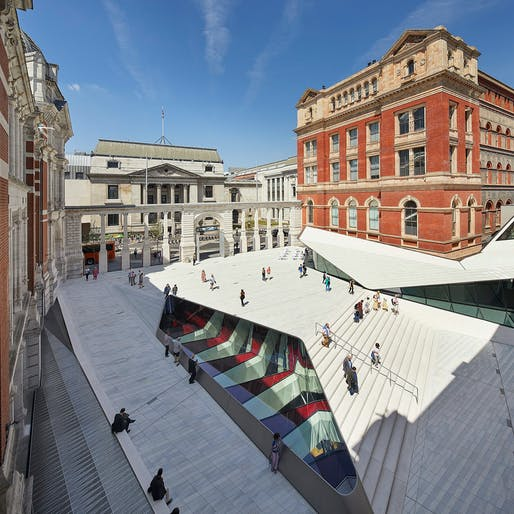 RIBA London Building of the Year Award: Victoria & Albert Museum Exhibition Road Quarter by AL_A. Photo: Hufton+Crow.