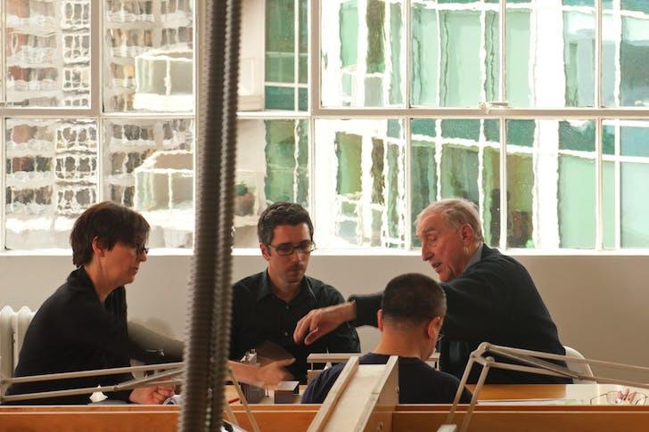 Founding principal Peter Bohlin in a discussion. Photo courtesy of Bohlin Cywinski Jackson.