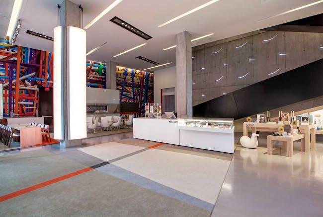 Contemporary Arts Center Lobby. Photo courtesy of FRCH Design Worldwide.