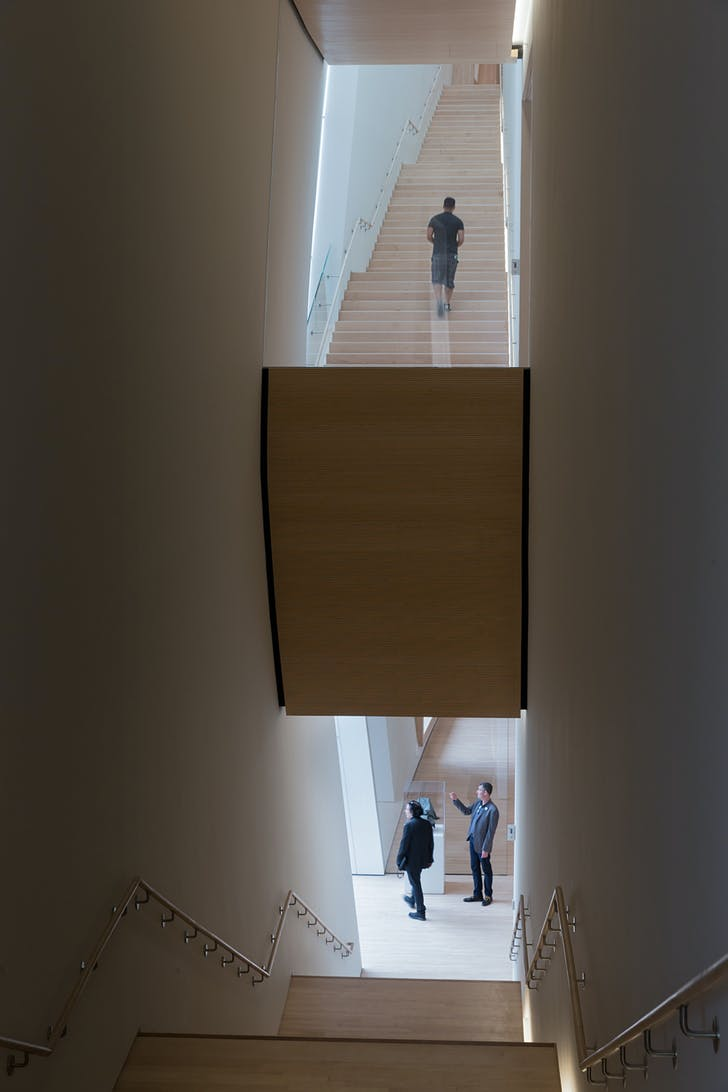 City Gallery stairs; photo: © Iwan Baan, courtesy SFMOMA.