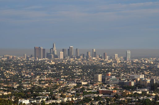 Smog hovering over Downtown L.A. in 2010. Photo: Clinton Steeds/Flickr.