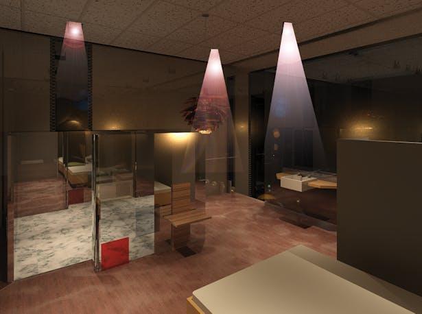 Artist studio bedroom design