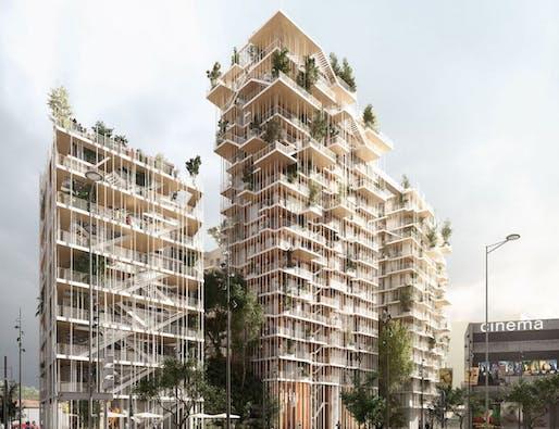 Canopia. Rendering: Pitch Promotion - Sou Fujimoto Architects - Laisné Roussel