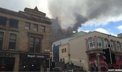 Glasgow School of Art on fire....