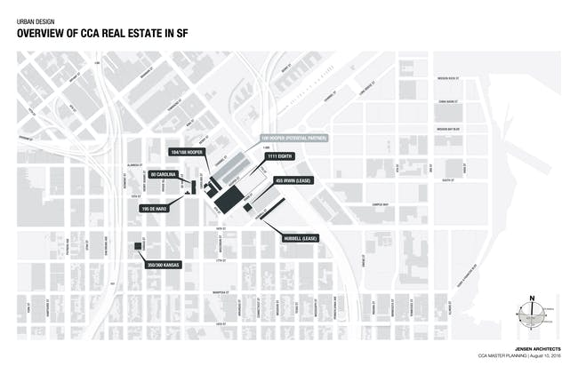 Map of CCA's current SF holdings. Image via CCA.