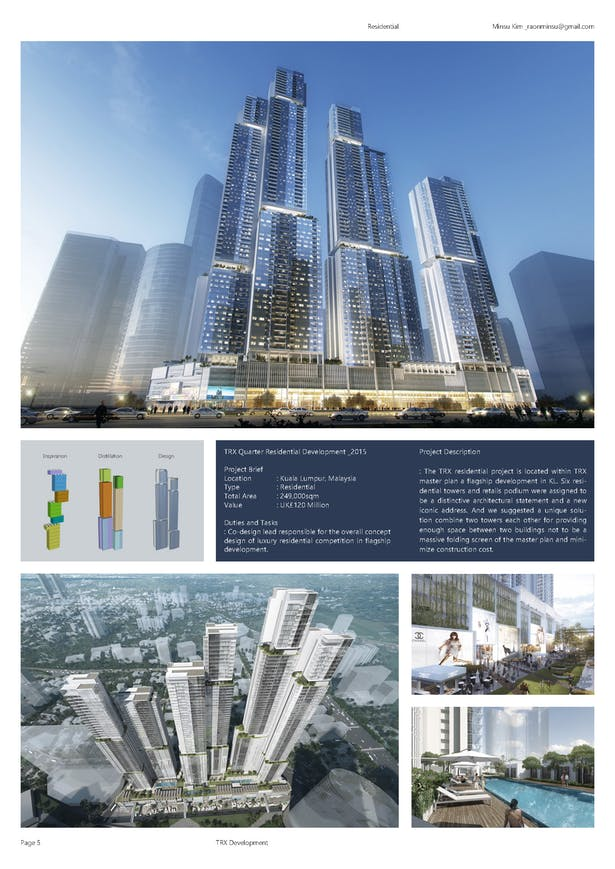TRX Quarter Residential Development   Minsu Kim   Archinect