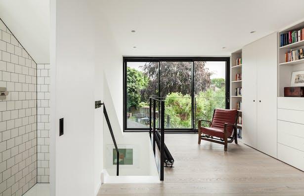 Loft level master bedroom