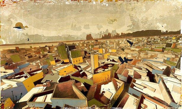 The Central-City Settlement, digital media on paper, [2008] 60'x40'