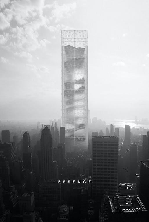 2015 1st prize - 'Essence Skyscraper' by BOMP (Ewa Odyjas, Agnieszka Morga, Konrad Basan, and Jakub Pudo) | Poland
