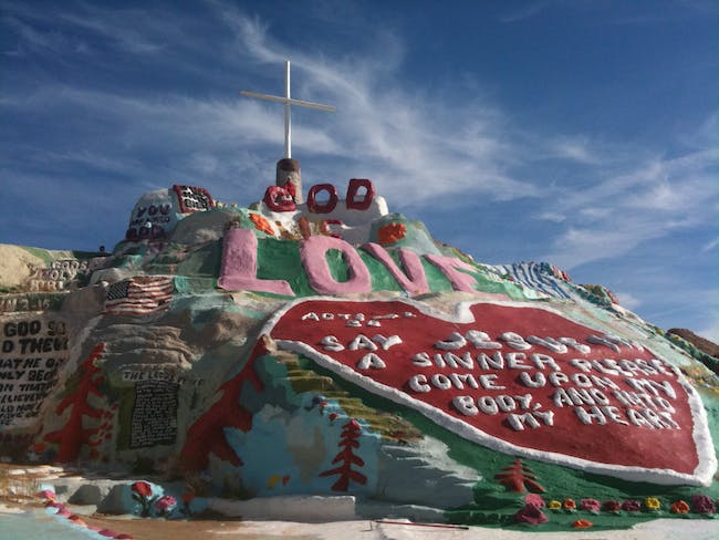 Another view of Salvation Mountain. Credit: Wikipedia