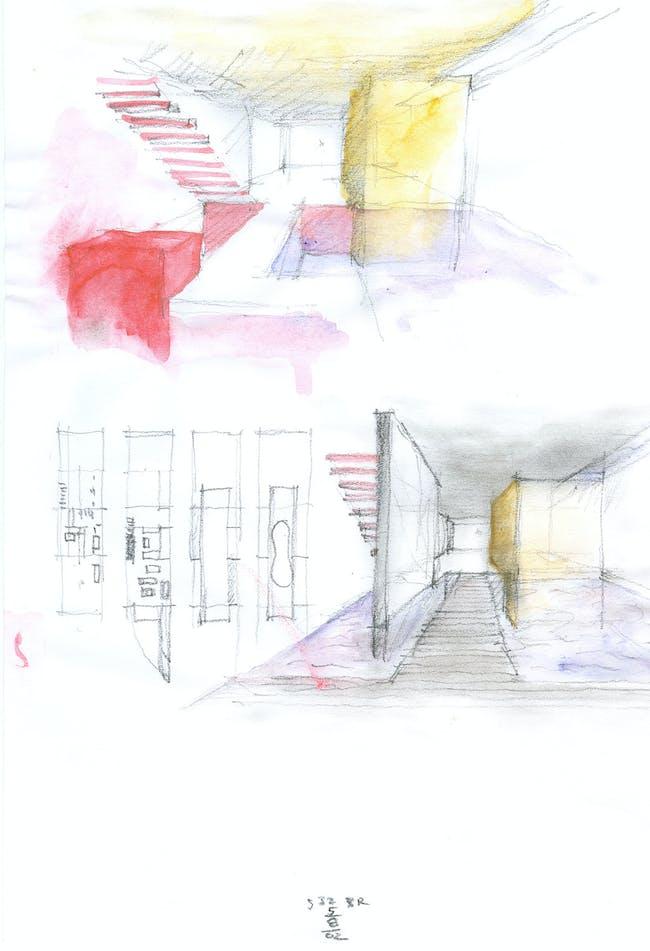 Grotto sketch. Image © CEA