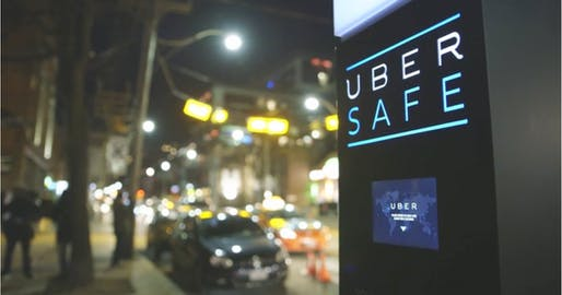 An Uber breathalyzer kiosk installed in Toronto. Image via Rethink / Uber.