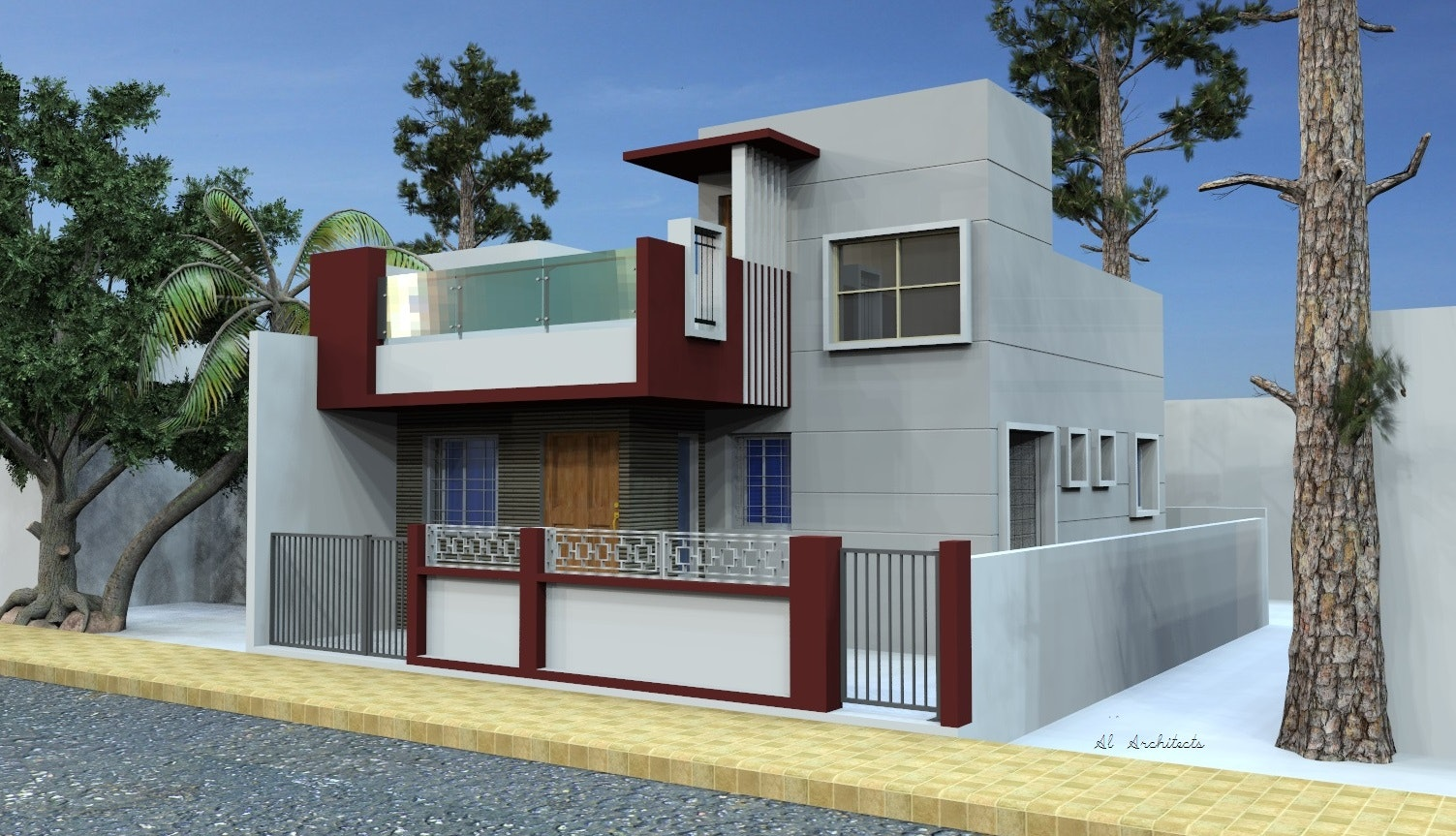 row houses and residences   exterior view and working