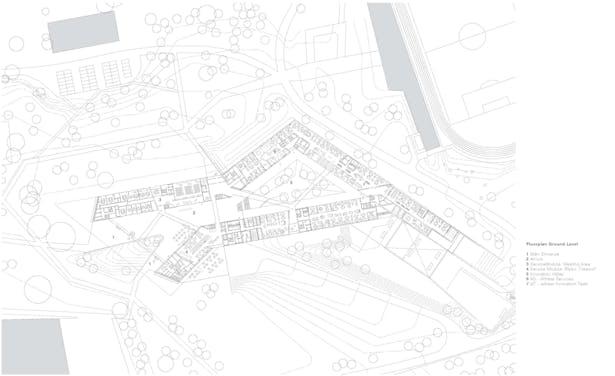 floorplan ground level © kadawittfeldarchitektur